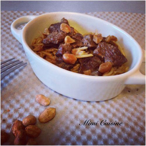 Emincé de boeuf à la cacahuète #Cookeo - Mimi Cuisine