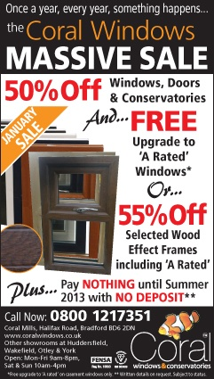 Our January Sale is now on with up to 55% off selected wood effect window frames or 50% off all windows, doors and conservatories plus a free upgrade to A rated windows - there's never been a better time. #doubleglazing #homeimprovements    With no deposit and nothing to pay till summer, that is a great offer!    Give us a call today on 0800 66 99 55 for a free design and quote.    #uPVC #residential #window #PVCu #doors #conservatories