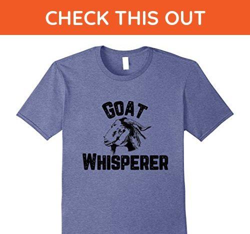 Mens Goat Whisperer Funny Farmer Rancher Herder Graphic T-Shirt XL Heather Blue - Funny shirts (*Amazon Partner-Link)