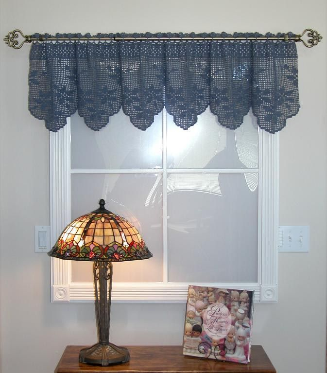 Free Crochet Edging Patterns For Curtains : 1000+ ideas about Crochet Curtain Pattern on Pinterest ...