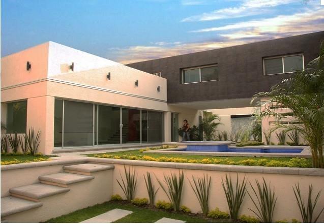 preciosa casa minimalista con alberca y jard n en
