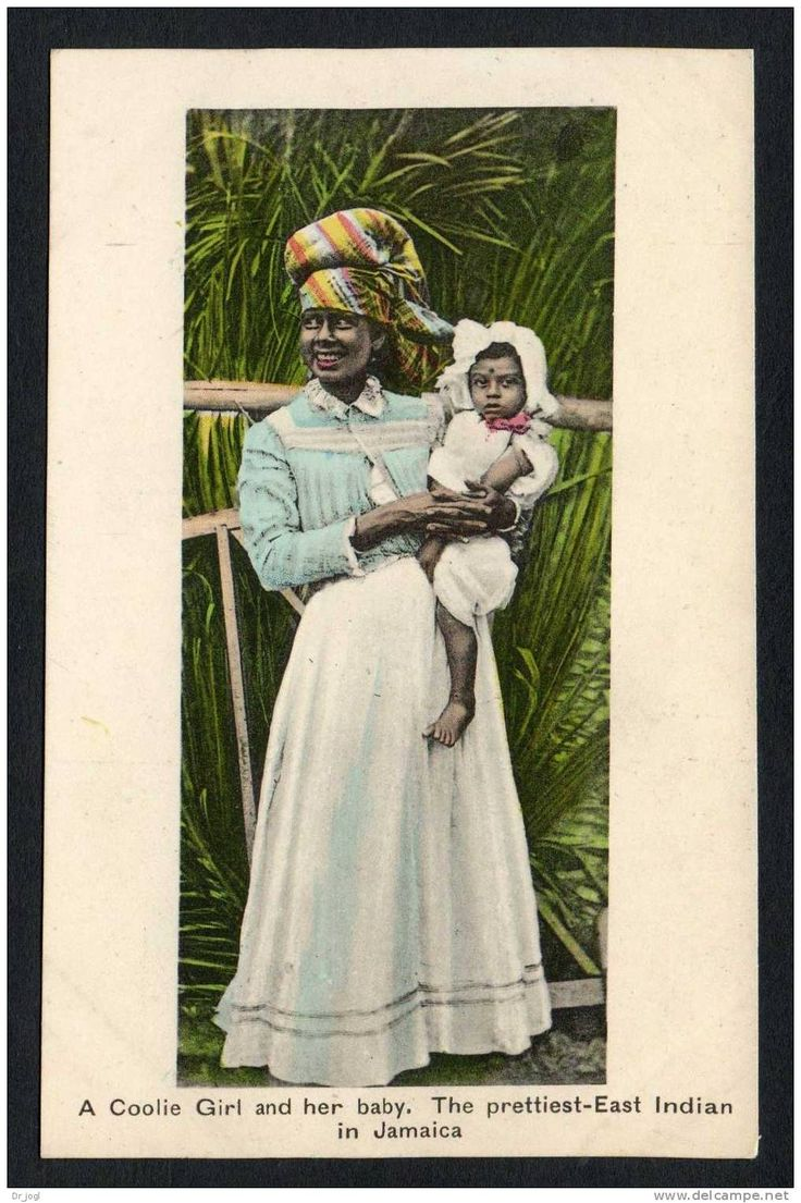A Coolie Girl And Her Baby Jamaica