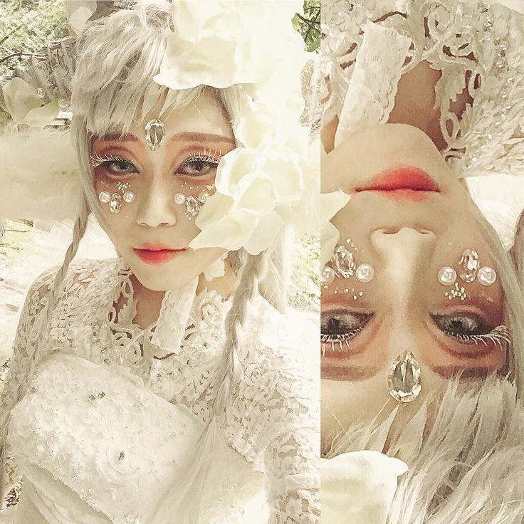 白まつげ難しい🤔🤔🤔 #original #originalcharacter #originalcosplay #creationphotography #creation#makeup #cosplay #selfie #make #cosplayer #japanese #コスプレ #白まつげ #自撮り