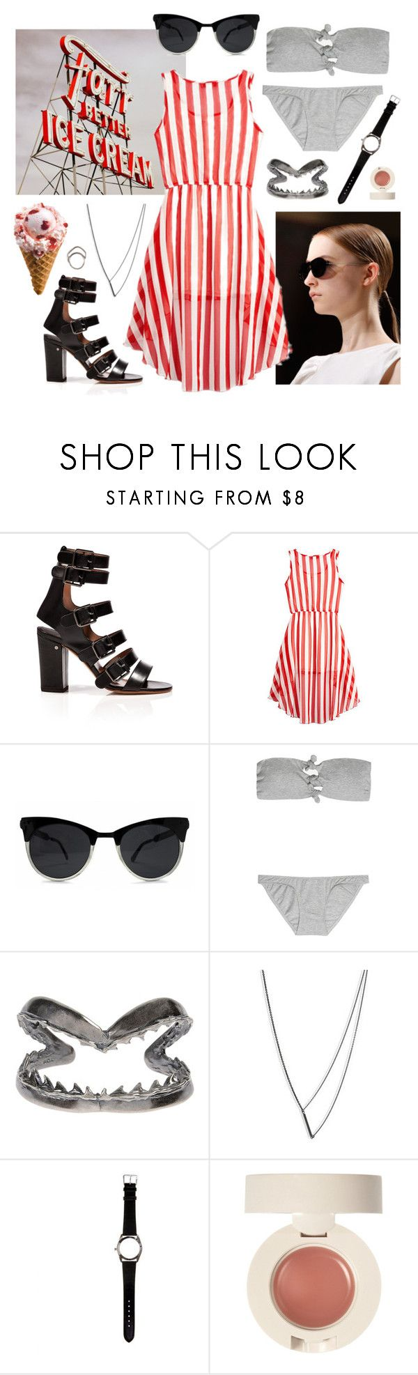 """""""Untitled #1534"""" by doxophobia ❤ liked on Polyvore featuring Laurence Dacade, Dries Van Noten, Zimmermann, Tom Binns, Naoko Ogawa, Maison Margiela and Iosselliani"""