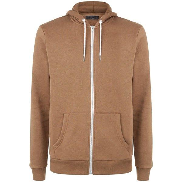 Camel Zip Up Hoodie ($21) ❤ liked on Polyvore featuring tops, hoodies, hooded zip up sweatshirt, hooded sweatshirt, beige hoodie, hoodie top and sweatshirt hoodies