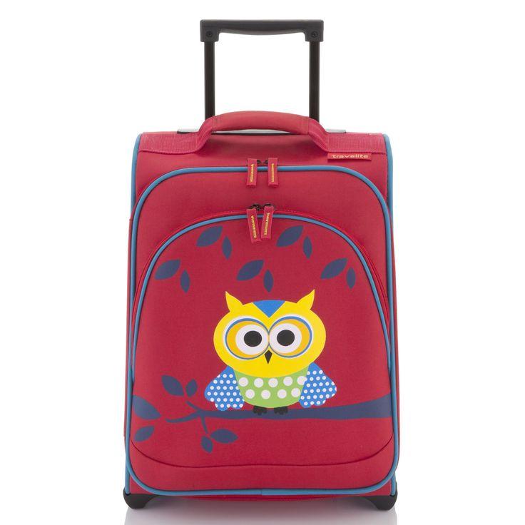 Bunter #Kinderkoffer travelite Younster bei Koffermarkt: ✓Motiv Eule ✓2 Rollen ✓inklusive Reisetasche ✓leicht: nur 2,3 kg ✓2 Rollen ⇒Jetzt kaufen