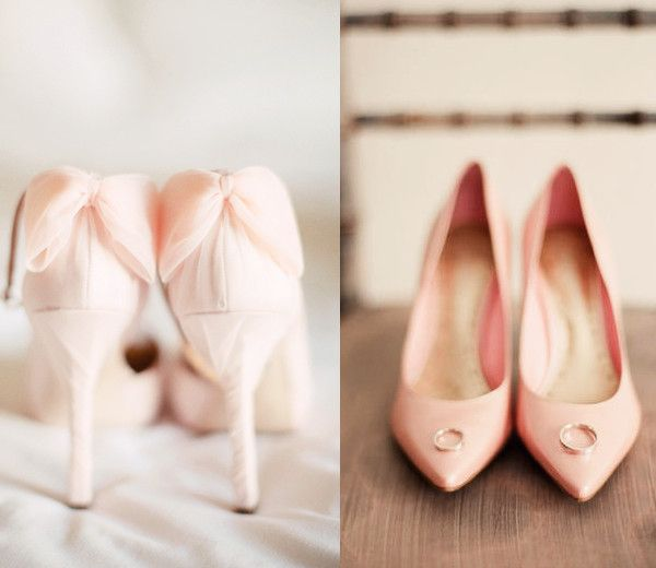 Blush Pink Colored Bridal Heels