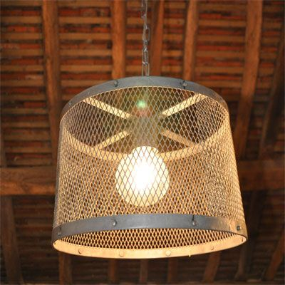 35 best diy lampshade images on pinterest lamp shades industrial mesh cage wire factory light pendant from homebarnshop greentooth Image collections