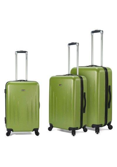 7fd933649 Conjunto de tres maletas, disponible en dos colores (verde - rosa) BZ4598.