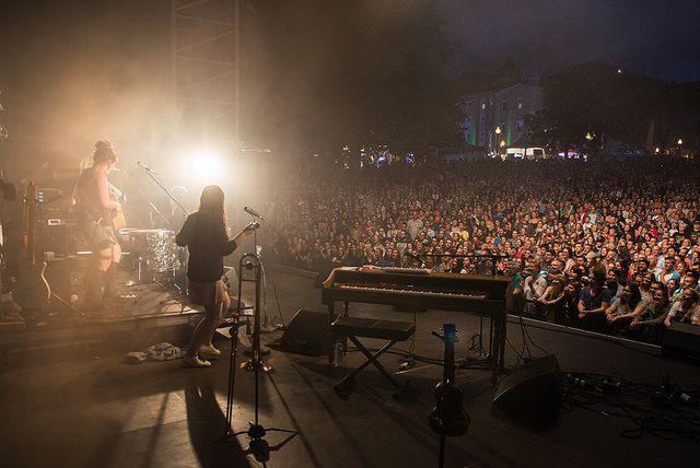 Les Soeurs Boulay sur la Scène Loto-Québec, Parc de la francophonie // 4 juillet 2014