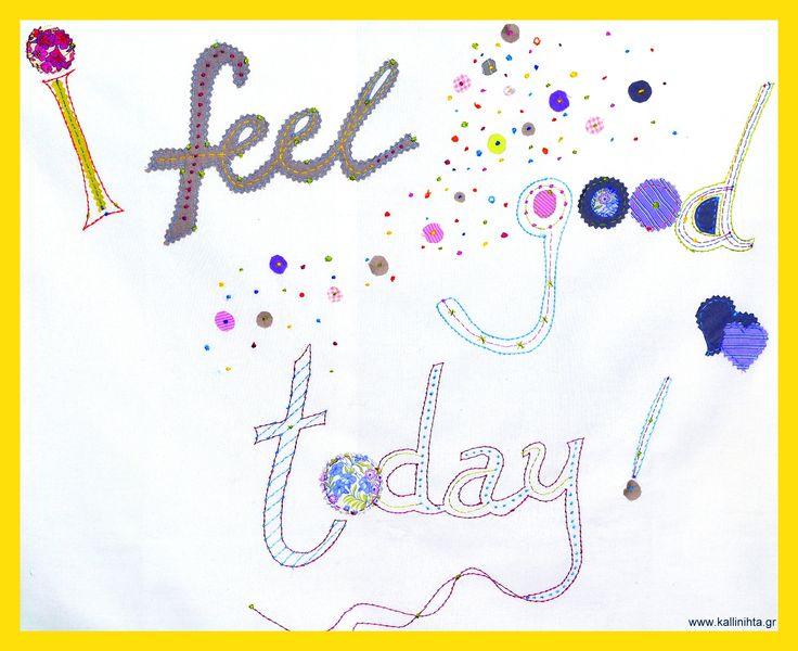 ''I feel good today !'' pillowcase