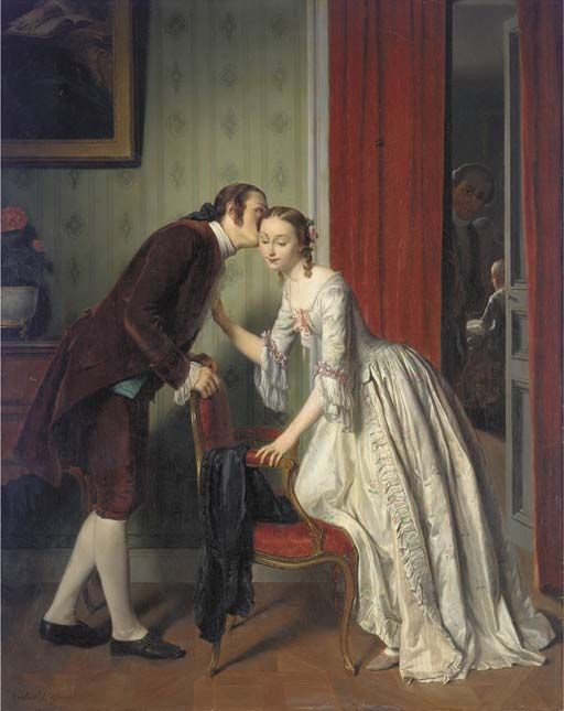 The Secret Whisper, by Gustave Leonard de Jonghe (1829 - 1893)