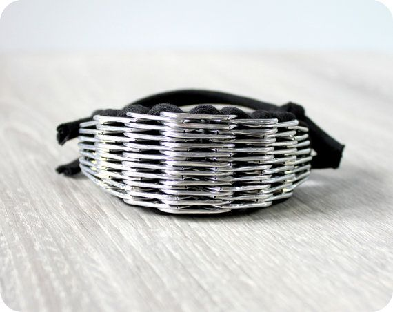 Rocker  eco bracelet by chaincouture on Etsy