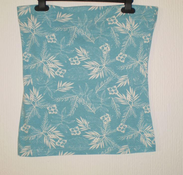 Papaya Blue and White Bandeau Strapless Boob Tube Summer Holiday Beach Top 14