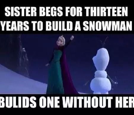 SEE SEE IF ELSA MADE 13 snowmen and Anna asked why she made so many it's because that's how many she wanted