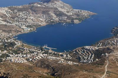 Ariel view of Gundogan in a featured guest post on my Bodrum Peninsula Travel Guide