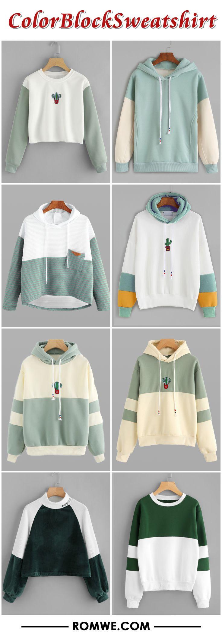 fall & winter color block sweatshirt