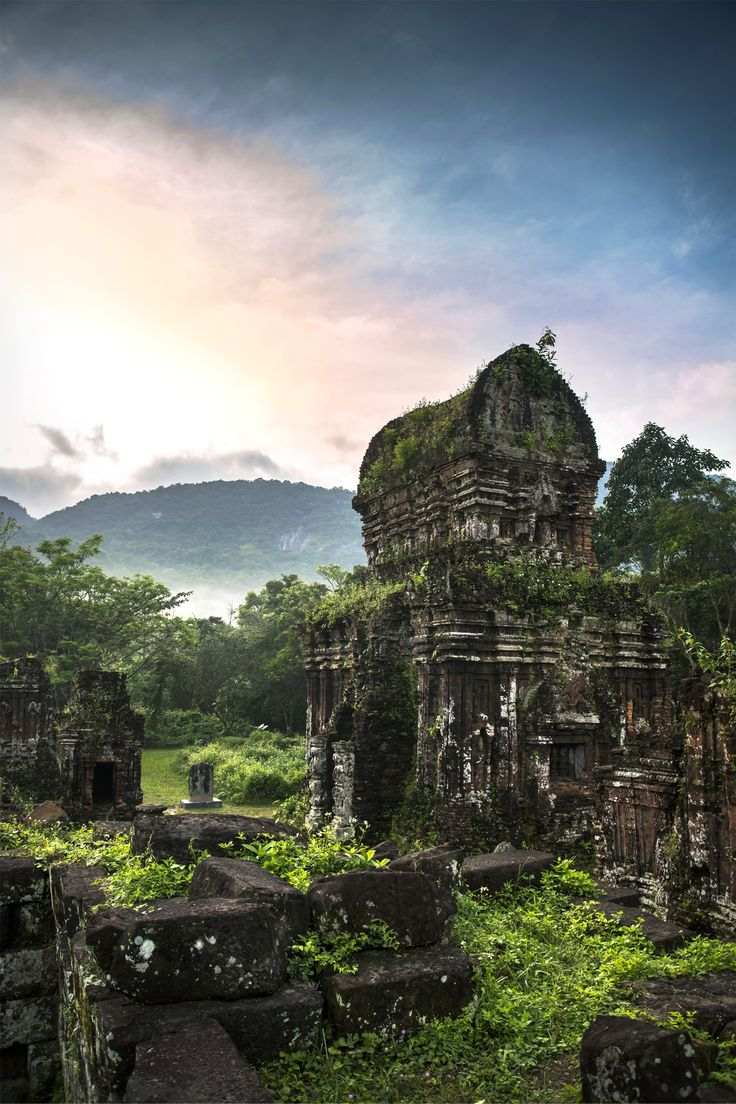 My Son Sanctuary - a ruined Hindu temple from the 14th century, became a UNESCO Heritage