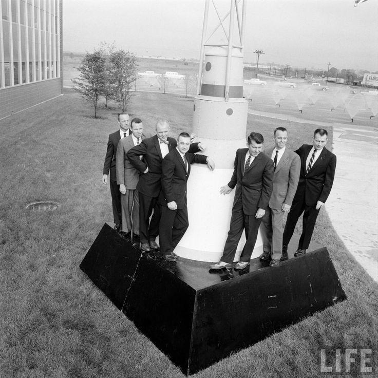 The original seven Mercury astronauts, 1959. - Imgur