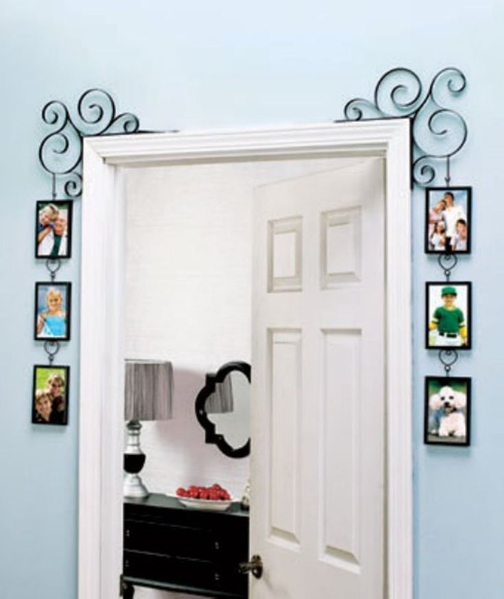Amazon.com - Set of 2 Doorway Corner Photo Picture Frames Home Bedroom (BLACK) -