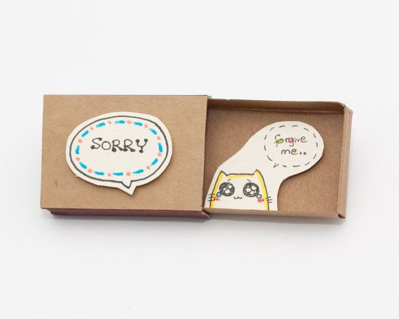 Sorry Card / Forgive me Card/ Apology Card / Cat by 3XUdesign