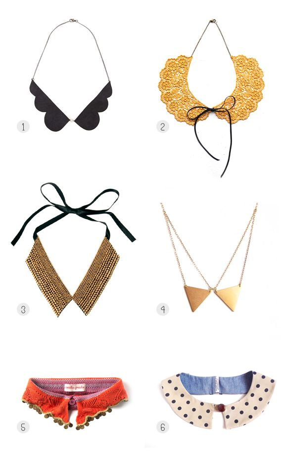 Cute collars make me smile. *Really wanting to try this super-sweet fall trend.*