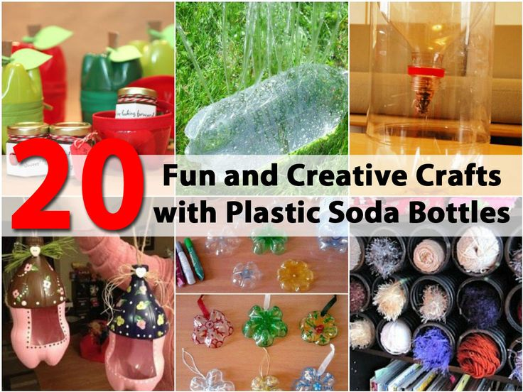 20 Fun and Creative Crafts with Plastic Soda Bottles via @vanessacrafting