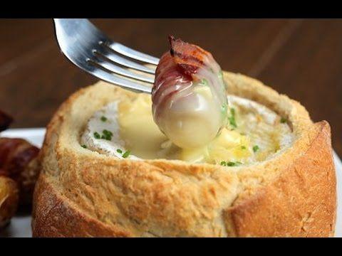 Camembert Potato Bacon Fondue - YouTube