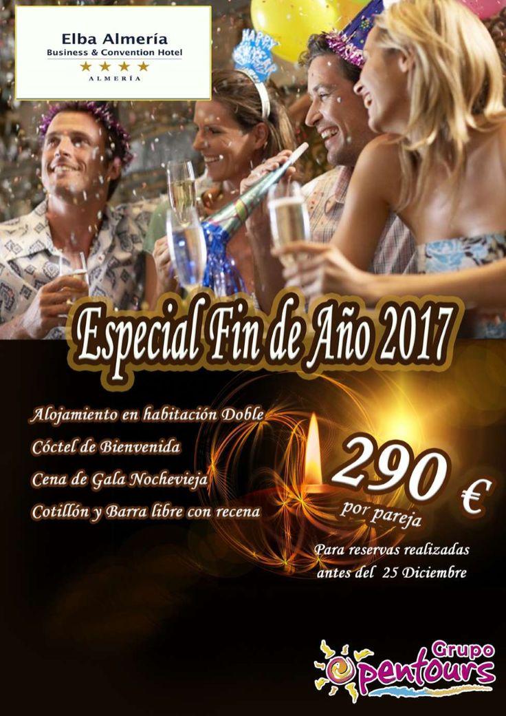 Hotel Elba Almería **** (Almería, Costa de Almería, Andalucía, España) ---- Especial FIN DE AÑO 2017 ---- Por pareja 290 € ---- Resto condiciones de esta oferta en www.opentours.es ---- Información y Reservas en tu - Agencia de Viajes Minorista - ---- #hotelelbaalmeria #elbaalmeria #almeria #andalucia #nochevieja #findeaño #findeaño2017 #escapadas #hoteles #vacaciones #estancias #ofertas #familias #niños #agentesdeviajes  #reservas #touroperador #mayorista #spain #agenciasdeviajes #opentours