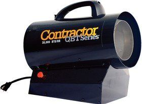 Mr Heater MHQ38FA Garage Workshop LP Propane Forced Air Portable Space Heater