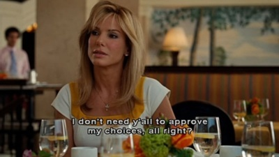 The Blind Side! AMAZING! Absolutely loved her in this movie!