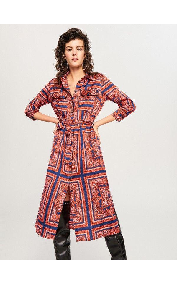 Sukienka We Wzory Sukienki Kombinezony Wielobarwn Reserved Dress Patterns Dresses Pattern