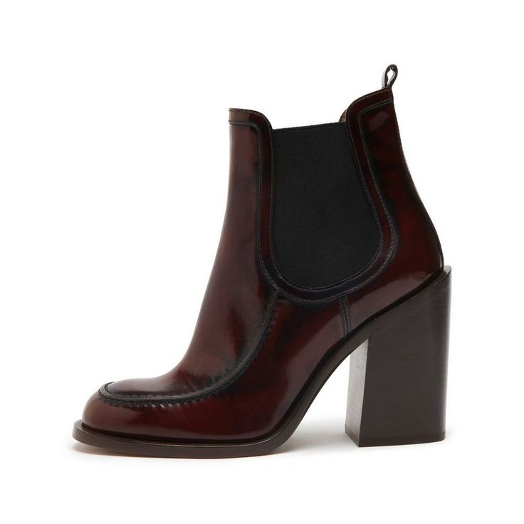 Rich autumnal tones and beautiful textures - Darby Chelsea Boot in Oxblood Spazzolato