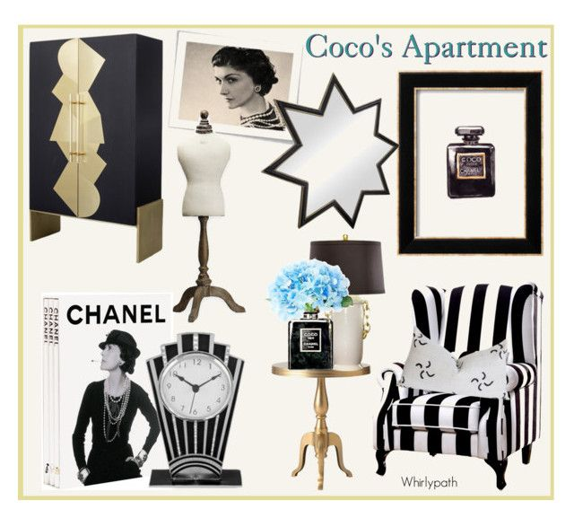 Coco's Apartment! by whirlypath on Polyvore featuring interior, interiors, interior design, home, home decor, interior decorating, Mont Blanc, Home Decorators Collection, Bradburn Gallery and Chanel