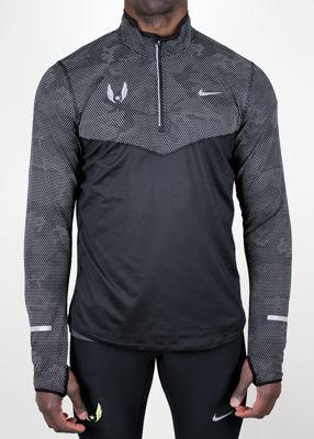 Nike USATF Men's Element Reflective Half-Zip