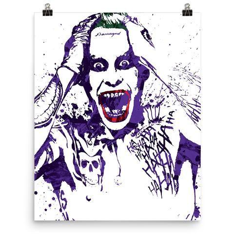 Suicide Squad Joker Jared Leto Poster - PixArtsy