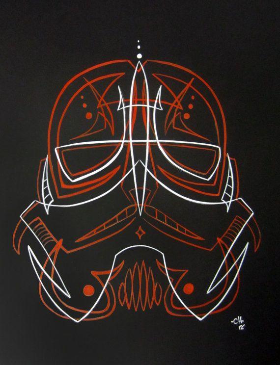 Pinstripe Stormtrooper. $60.00, via Etsy.