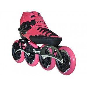 Luigino Strut PRO Inline Speed Skate Pink Trim 4 Wheel