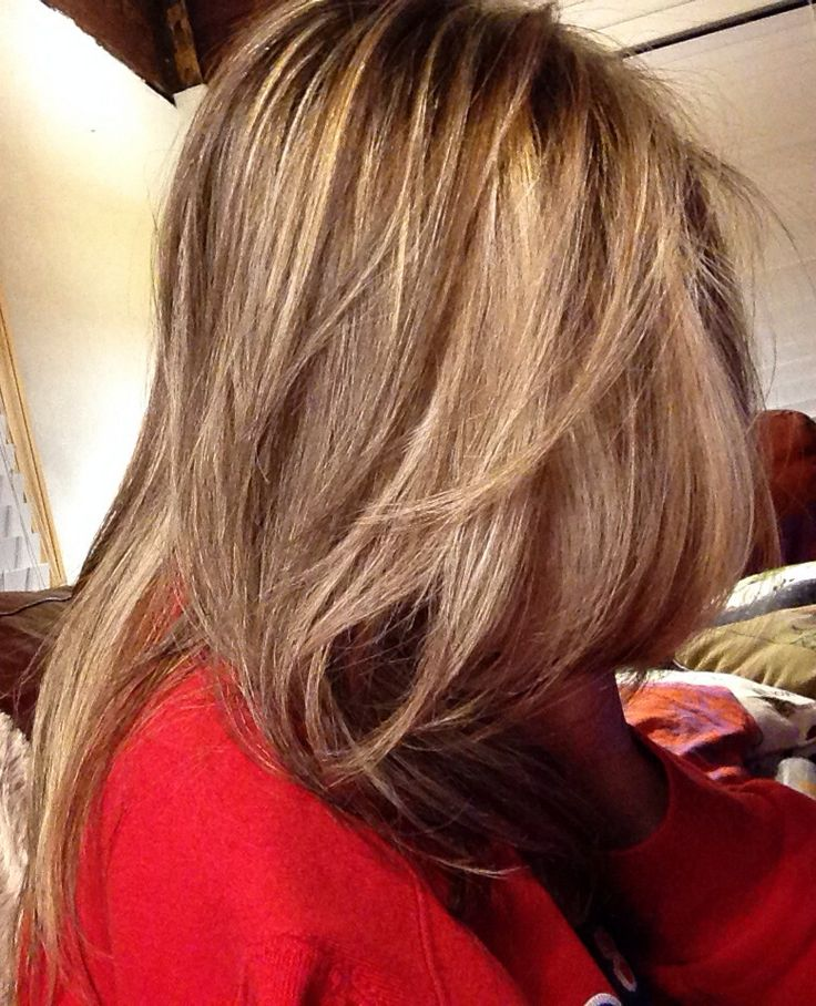 Golden Ash Blonde With Light Brown Lowlights Beauty
