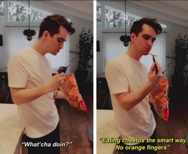 When he was innovative. | 19 Times Brendon Urie Was Too Precious For This World