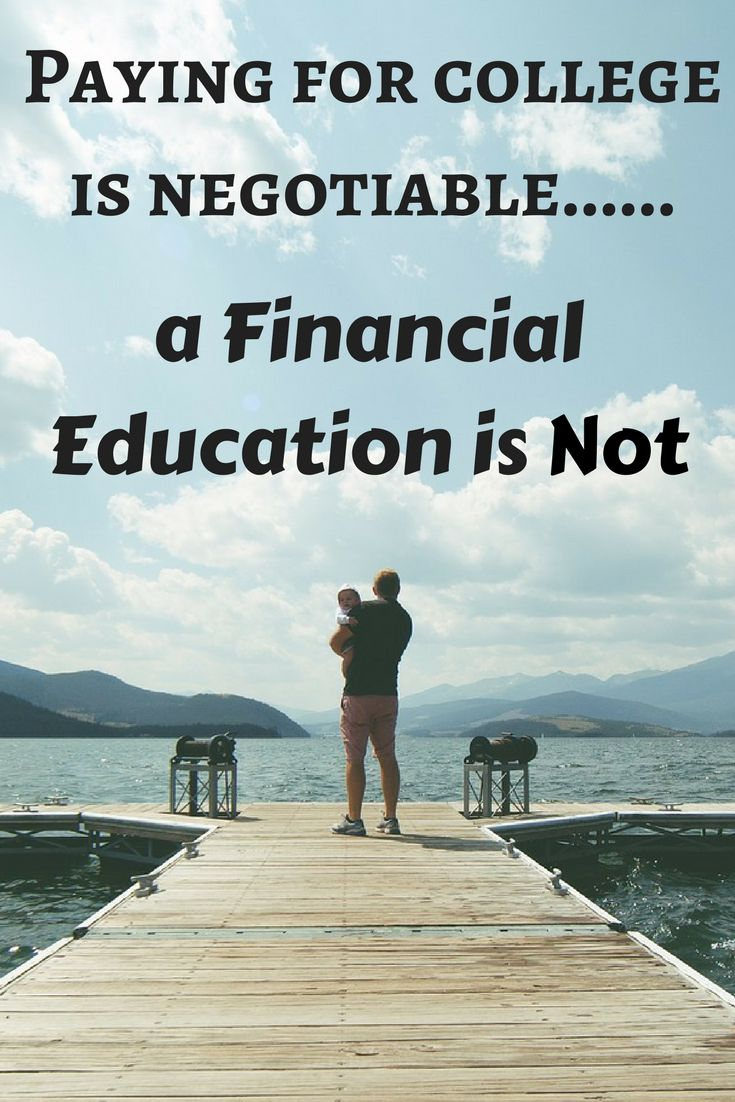 Paying for college is negotiable, a Financial Education is not via @apathyends