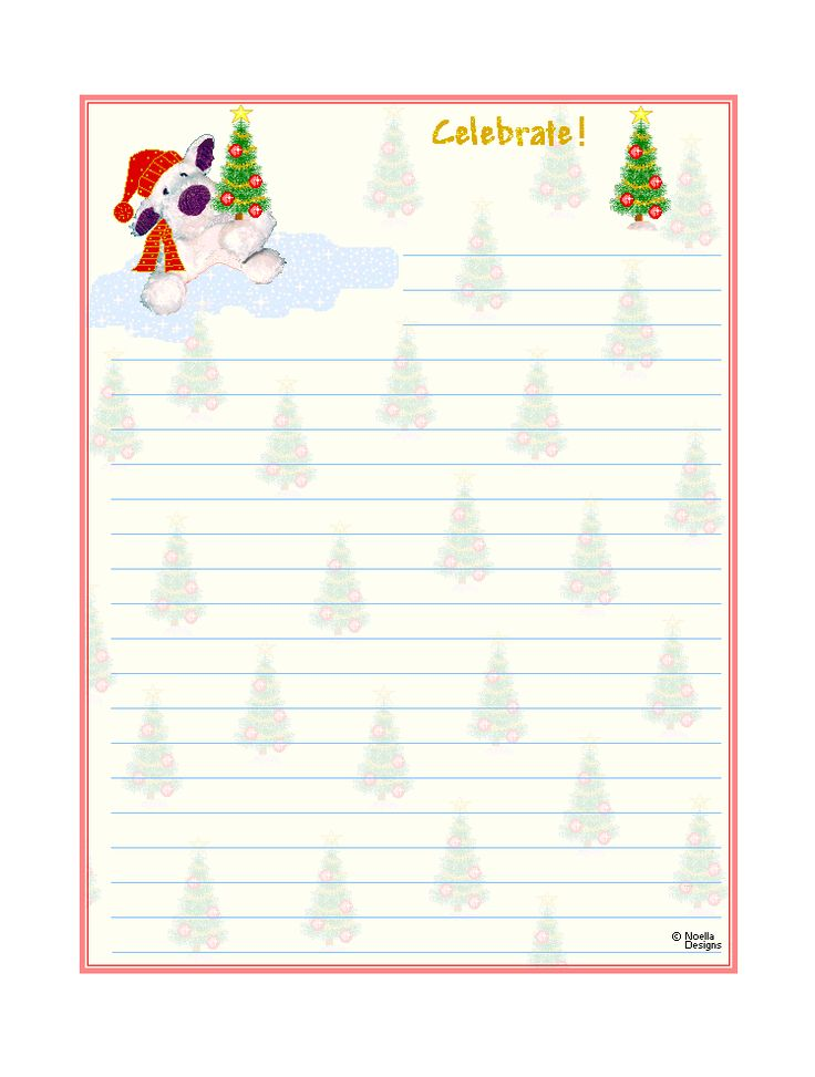 Free printable christmas stationary free printable christmas lined stationery xmas for Printable christmas stationary