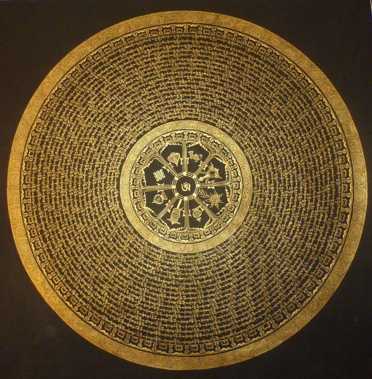 om mane peme hung mantra of buddhist religion