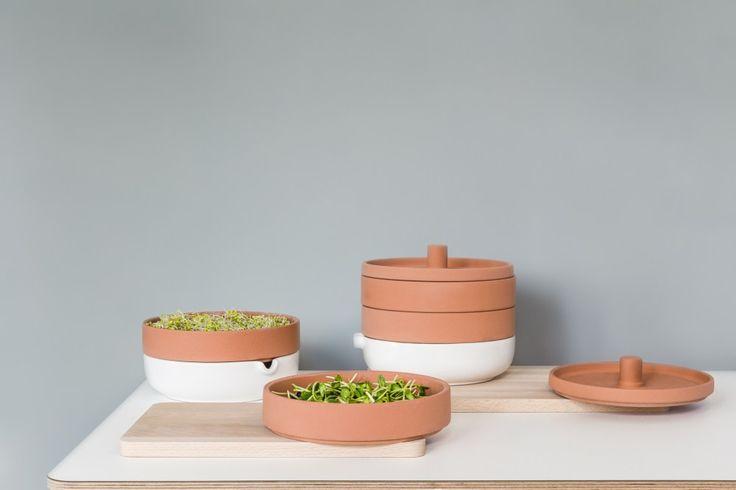 Användbar, A Terra Cotta Sprouter to Grow Microgreens, by Maja Ganszyniec