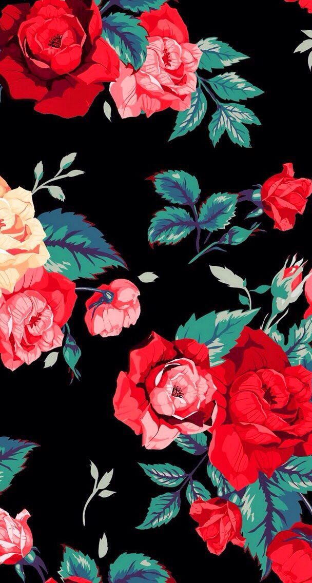 Red Roses Find More Cute Vintage Wallpapers For Your Iphone Android Wallpaper Iphone Roses Iphone Wallpaper Vintage Wallpapers Vintage