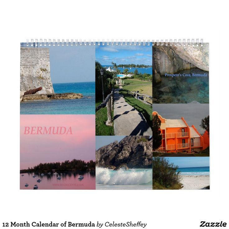 Gorgeous 12 Month Calendar of Bermuda (sold in Delaware) Thank you!