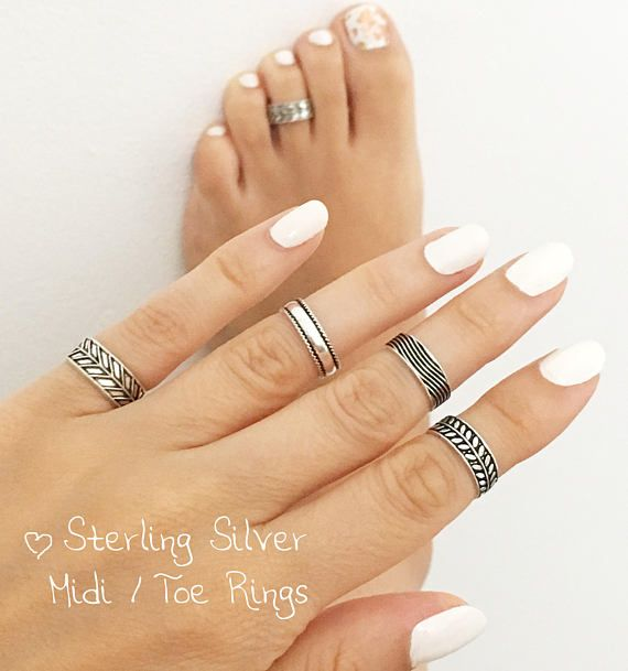 Sterling Silver Midi Ring Toe Ring Foot Jewelry