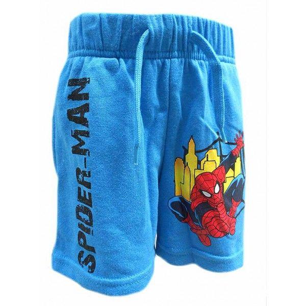 Blå Marvel Spiderman shorts til børn med flot motiv af Superhelten fra Marvel