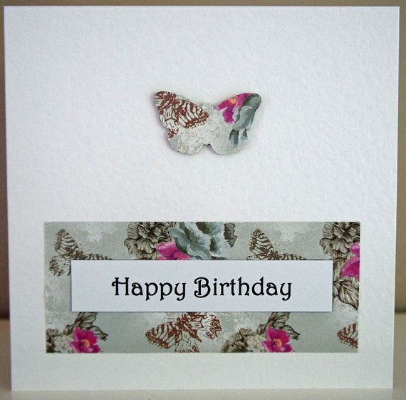 Butterfly Birthday Card by Simplistitch on Etsy