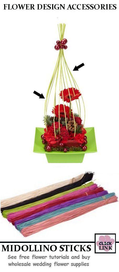Gerbera Wedding Flowers with Midollino sticks. $19.99 per ...